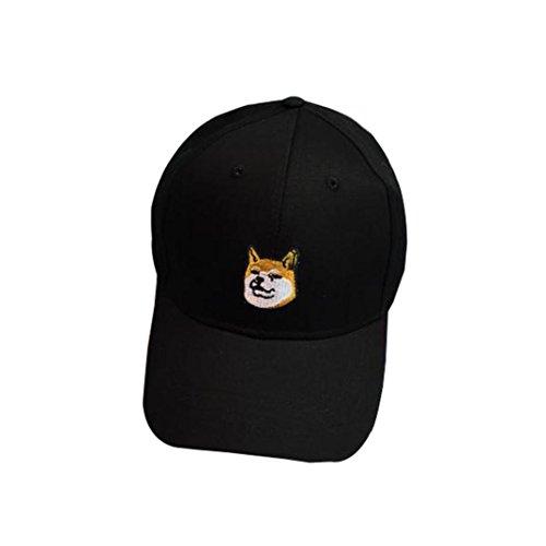 familizo-tapas-de-algodon-lindo-perro-en-la-gorra-de-beisbol-del-snapback-negro