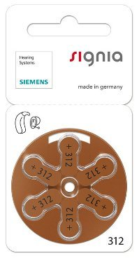 Siemens Signia Hearing Aid Battery 312(60PCS)  available at amazon for Rs.1999