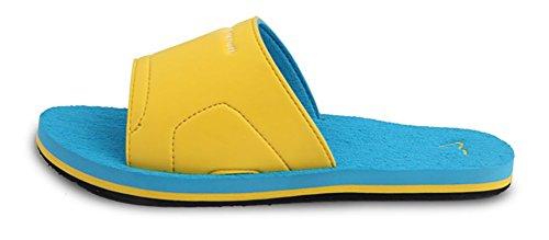 Slip sur les pantoufles de douche antidérapant Sandales House Mule Think Semelle mousse chaussures de plage piscine diapositive de Salle de Bain pour adulte–Parfait cadeau de Noël vert