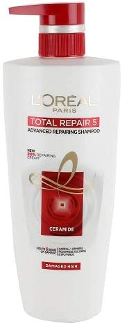L'Oreal Paris Total Repair 5 Shampoo (640ml + 64ml = 704