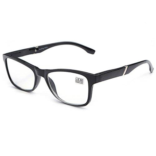 VEVESMUNDO Lesebrille Damen Herren Halbrahmen Federscharnier Vintage Halbbrille Lesehilfe Sehhilfen Brillen mit Stärke 1.0 1.5 2.0 2.5 3.0 3.5 4.0 (Schwarz, 2.0)