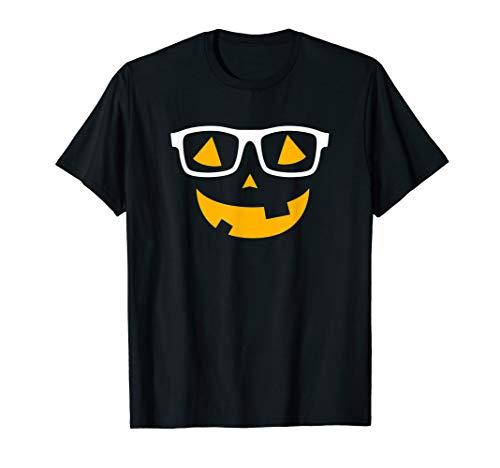O Laternen Gesichts Halloween Kostüm T-Shirt ()