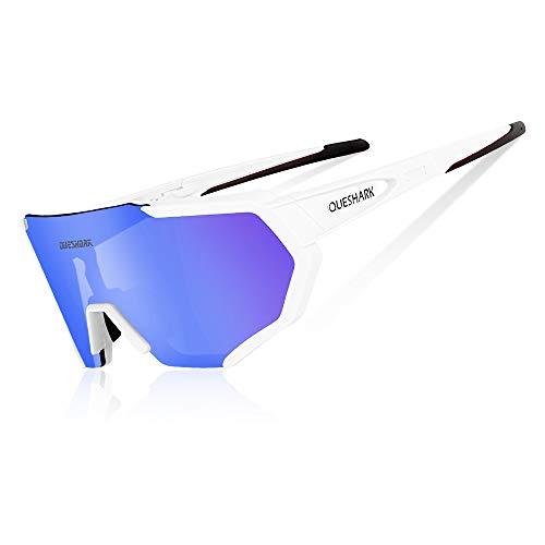 1bd1c3a77d Queshark Gafas De Sol Polarizadas para Ciclismo con 3 Lentes  Intercambiables UV400 MTB Bicicleta Montaña (