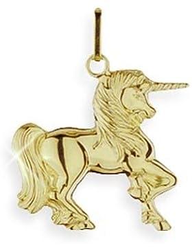 Einhorn Charms Anhänger echt 14 Karat Gold 585 (Art.206178)