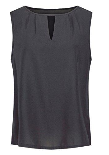 Sommer Hohl Chiffonhemden Einfarbig T-shirt Reizvolle Rundkragen Oberseiten Schlinge Top ärmellos Hemden Freizeit Blouse Jumper Schwarz