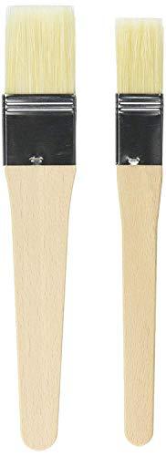 """KAISER Backpinsel-Set 2-teilig Backpinsel Naturborsten 1\"""" und 1,5\"""" 20,5 cm Pâtisserie flexible Naturborsten 2 Pinselbreiten sichere Borsten-Metallfixierung"""