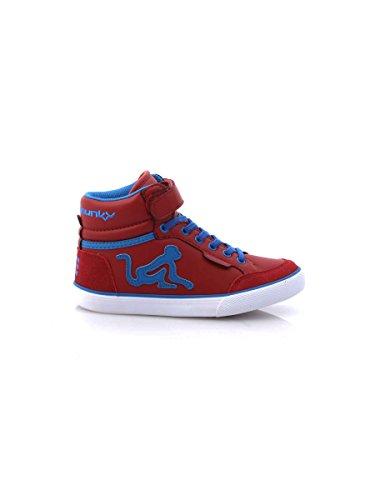 Drunknmunky Sneakers scarpe bambino rosso BOSTON CLASSIC 140 Bordeaux
