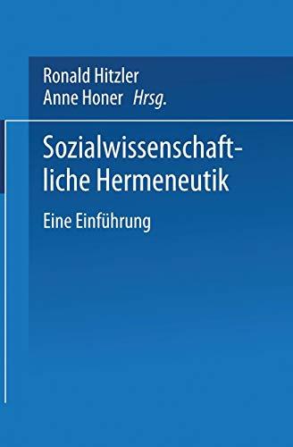 Sozialwissenschaftliche Hermeneutik (Universitätstaschenbücher, Band 1885)