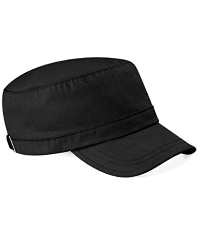 Beechfield Classic Army Cap 100% Cotton - 9 Great Colours (B34) (BLACK)