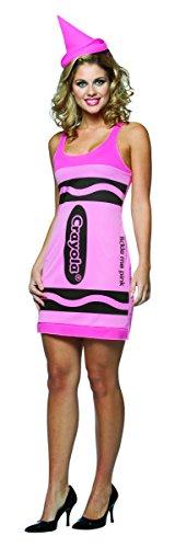 Für Crayon Pink Kostüm Erwachsene - Rasta Imposta Crayola zeichnet Tank Dress - Adult Female Kostüm - Pink
