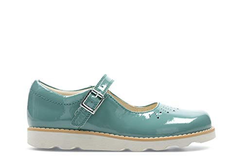 Teal Patent Schuhe (Clarks Crown Jump K Girls Infant Shoes 10,5 G Teal)