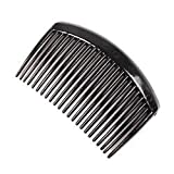 C.S Collection Pack of 3 Pcs Black/Brown / Transparent White Hair Comb Clip Hair Accessories for Womens/Girls (Pack of 3 PCS