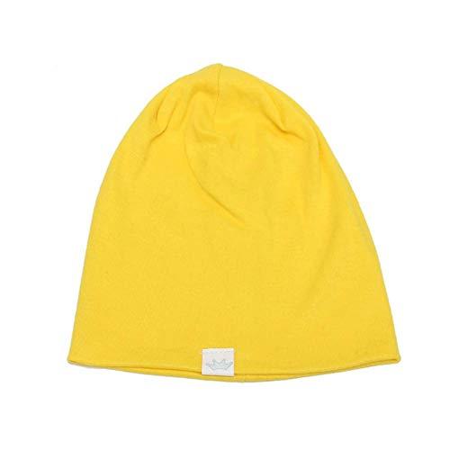 Topsaire Hat Kinder Winter Strickmütze Baby Jungen Mädchen Klassische Beanie Strickmütze für Kinder, Feinstrick Mütze doppelt gestrickt, Kindermütze Gelb
