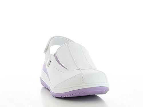 OXYPAS Iris, Chaussures de Sécurité Femme Blanc (lic)