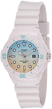 Casio Women's White Dial Resin Analog Watch - LRW-200H-2E