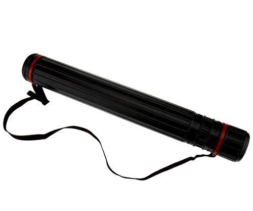 65-104cm ausziehbar Schleife Bogenschießen Pfeil Rückseite Schulter Köcher Halter Tube + Gurt -