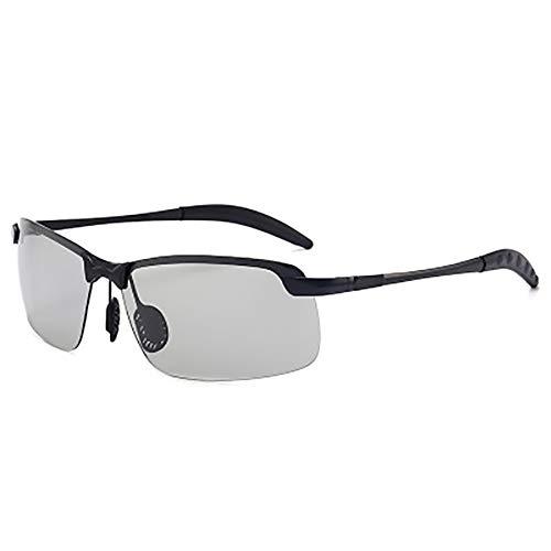 FYrainbow Polarisierte Sonnenbrille, Tag und Nacht fahrende Sonnenbrille ist am besten für Angeln Golf Golf Outdoor-Shopping Verfärbung Gläser Harz-Linsen