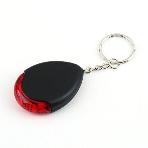 Pfeife LED-Licht Taschenlampe Fernbedienung Sound Control Lost Key Finder Locator Fernbedienung Keychain Keychain Keyring mit Pfeife klatscht -