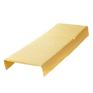 F Fityle 1 Stück Gelbe Auflage Bettlaken Betttuch für Massagetisch Massage SPA, aus Satin – 80 x 180 cm