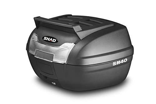 SHAD D0B40199 Topcase mit Montageplatte Enthalten, Schwarz -