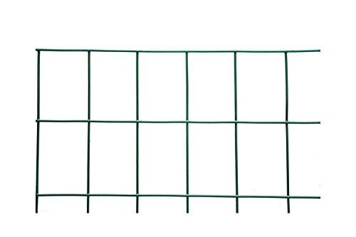 Rete metallica elettrosaldata recinzione h.180-25 mt 50x75 plastificata verde