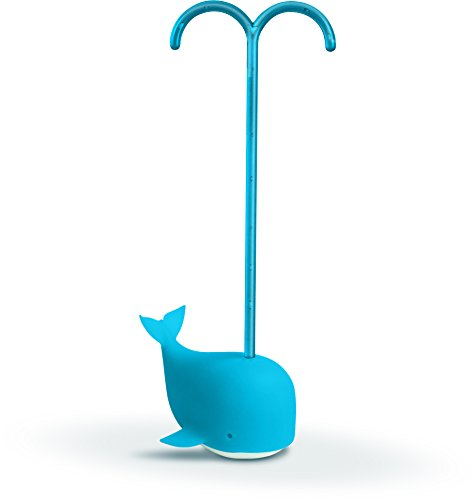 Fred tea infusore, silicone, blu, 5.5x4.5x14 cm