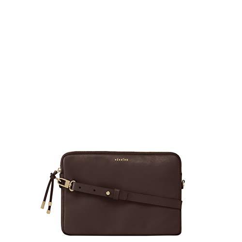 Maison Héroïne Jamie 12 Zoll | Laptop Tasche | Crossbody Tasche | Handtasche | Damen | Umhängetasche | Leder | Schultertasche (Braun) -