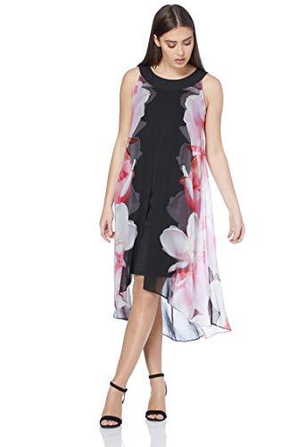 Roman Originals Damen A-Linien-Kleid mit Blumenmuster in Pink Größe 38-48 - Rosa - Größe 38