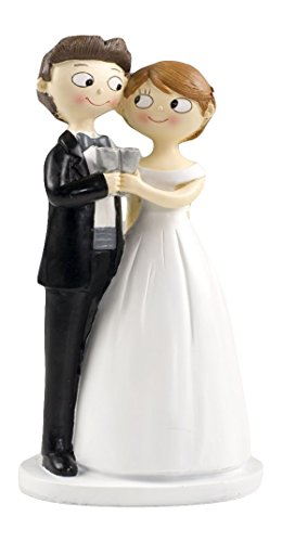 Mopec Y588 - Cake figure for wedding couple bridal couple pop & fun, 21 cm