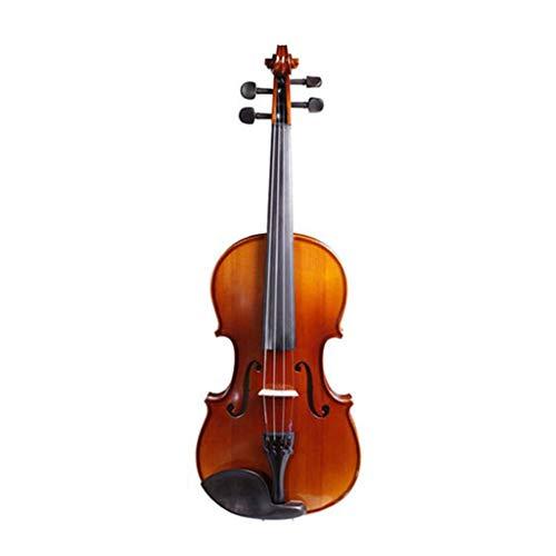 Violini Strumenti a Corda White Pine Fiddles Strumento a Corde Ebony Parts Practicing Fiddle Full Accessory Fair Trade (Color : Bright Color, Size : 4/4)