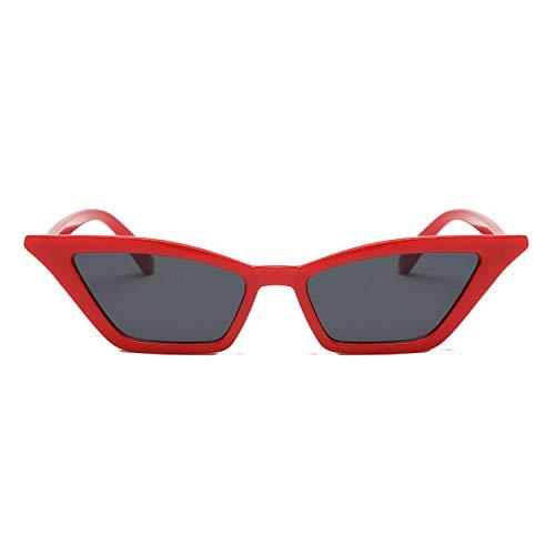 WERERT Sportbrille Sonnenbrillen Vintage Sunglasses Women Sun Glasses Retro Small Red Ladies Sunglass Black Eyewear