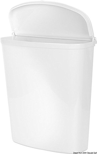 Cubo de basura Brunner o papelera blanca para puerta autocaravana.