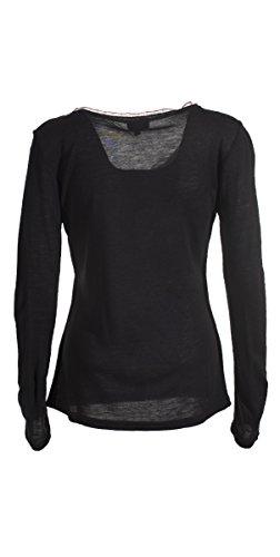 Coline - Tee shirt manches longues Noir