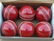 Forever Online Shopping Set Of 6 Yorker Leather Cricket Ball 2 Part
