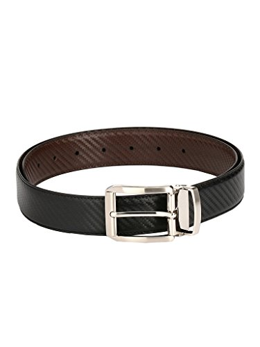 Pacific Gold Stylish Reversible Black & Brown Faux Leather 30-34 inch Formal Casual Belt for men (114353763_30-34)