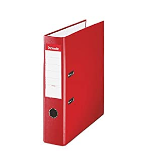 Esselte 829725 - Red Arch Folder, Foolscap Size, Spin: 75mm