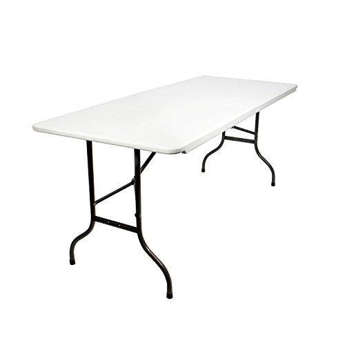 Vanage Gartentisch in Farbe off-white - Klapptisch gut geeignet als Partytisch oder Buffettisch für Garten, Terrasse und Balkon - Tisch aus Kunststoff ist zusammenklappbar inkl. Tragegriff