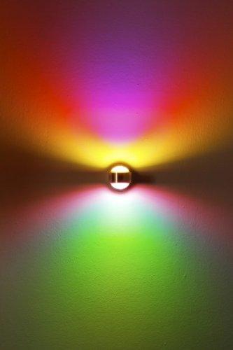 LED Wandleuchte mit magenta und grünem Farbfilter 2 x 3 Watt – 300 Lumen – 3000 Kelvin - 4