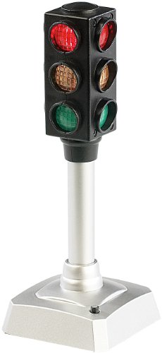 (PEARL Stimmungsampel: LED-Verkehrsampel, Batteriebetrieben, blinkt auf Knopfdruck (Büro Ampel))