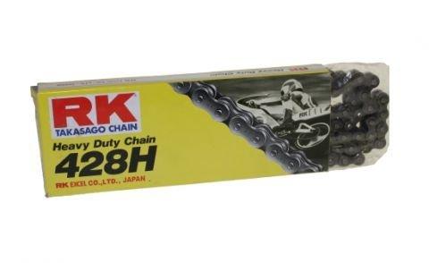 Motorradkette rK-division chain 428, 128 maillons pour honda nX, xL, suzuki rG 125 125, dT 125 yamaha xT 250 350 fZR, tT-r cagiva 80, gilera, hyosung hispania moteur