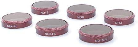 SKYREAT Objektiv Filter Set für Parrot Anafi 6 Stück,(ND4,ND8,ND16,ND4/PL, ND8/PL,ND16/PL)