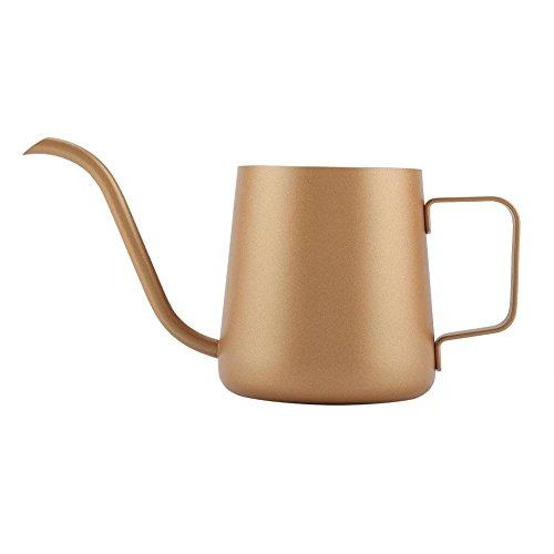 350 ML Edelstahl Teekanne Mit Schwanenhals-Kaffeekanne Schwanenhals-Drip-Kaffeemaschine Kaffee...