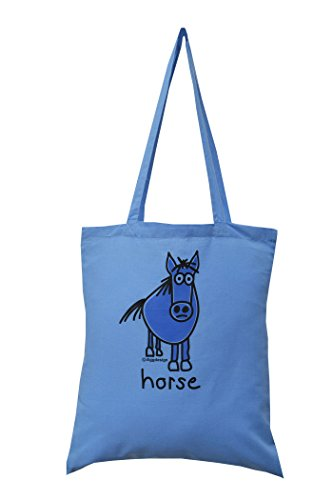 31TfeyoRmkL BEST BUY #1Spring offer! HORSE cotton blue tote bag price Reviews uk