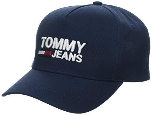 Tommy Jeans Damen TJW Logo Baseball Cap, Blau (Black Iris 496), One Size (Herstellergröße:OS)