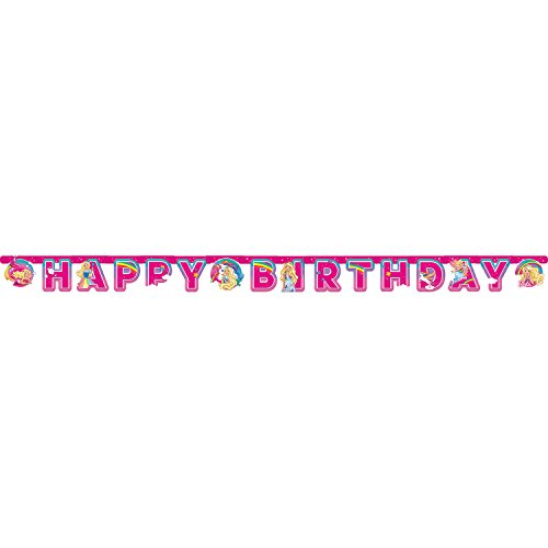 Amscan International 9902529 Banner-ill Letter-licensedbarbie-dreamtopia HB Let Baner (Birthday Dekorationen Barbie Party)
