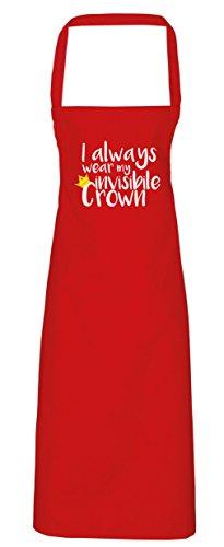 hippowarehouse Ich Immer tragen My unsichtbar Krone Schürze Küche Kochen Malerei DIY Einheitsgröße Erwachsene, rot, Einheitsgröße