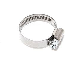 La cremallera de abrazadera de manguera W4 acero inoxidable, 25 x 12 mm de diámetro, 40 mm