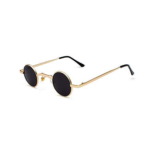 WJFDSGYG Kleine Runde Sonnenbrille Männer Metallrahmen Runde Stil Kleine Sonnenbrille Für Frauen Zubehör Sommer