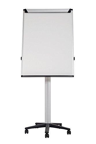 Bi-Office Earth - Umweltfreundliches Mobiles Flipchart mit Aluminiumrahmen, Magnetisch, 70 x 100 cm Tafel
