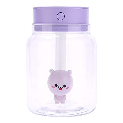 Candy Jar Shaped Mini Luftbefeuchter USB Große Kapazität Zerstäubung Stummbefeuchtung Zerstäuber für Home Office Auto Bunte Lichter Kleine